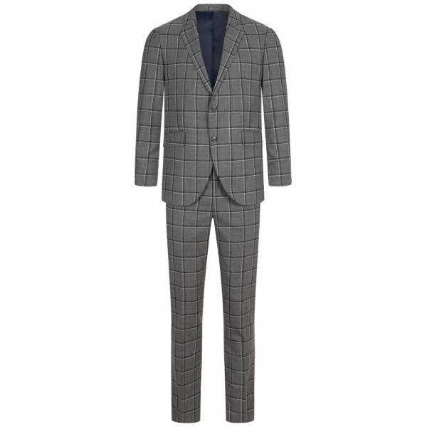 Hackett London Green WPane Wool Herren Anzug HM422705R-9EH