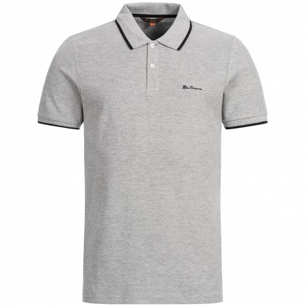 BEN SHERMAN Herren Polo-Shirt 0059993-009 Grey Marl