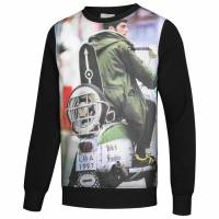 Lambretta Print Crew Herren Sweatshirt CM0633-Black