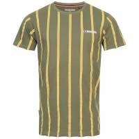 Lambretta Stripe Pique Herren T-Shirt SS5195-BEETLE/GOLD