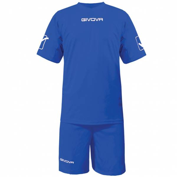 Givova Fußball Set Trikot mit Short Kit Givova blau