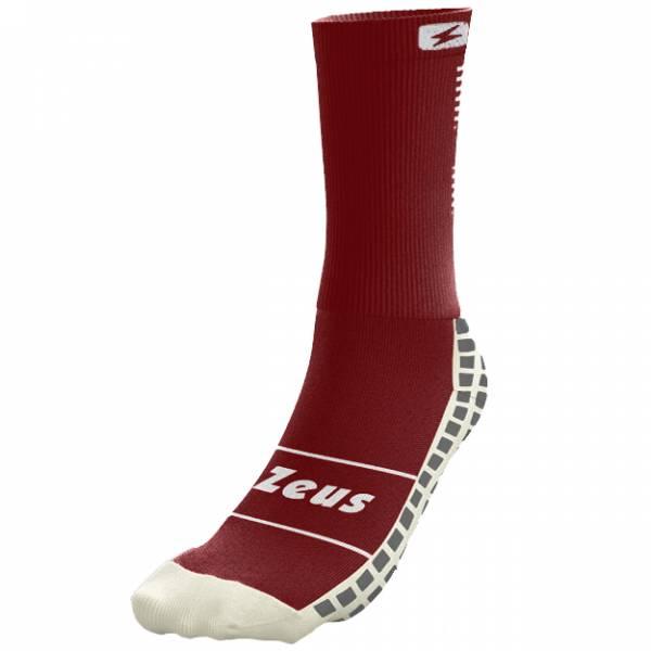 Zeus non-slip professional training socks dark red