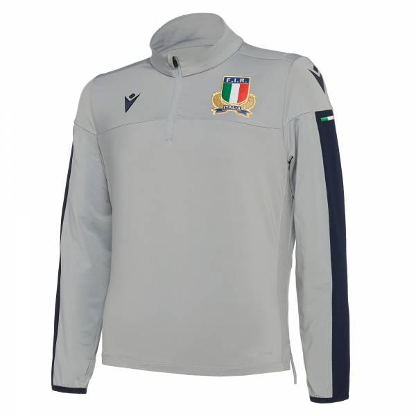 Italien FIR macron Herren 1/4-Zip Trainings Sweatshirt 58100122