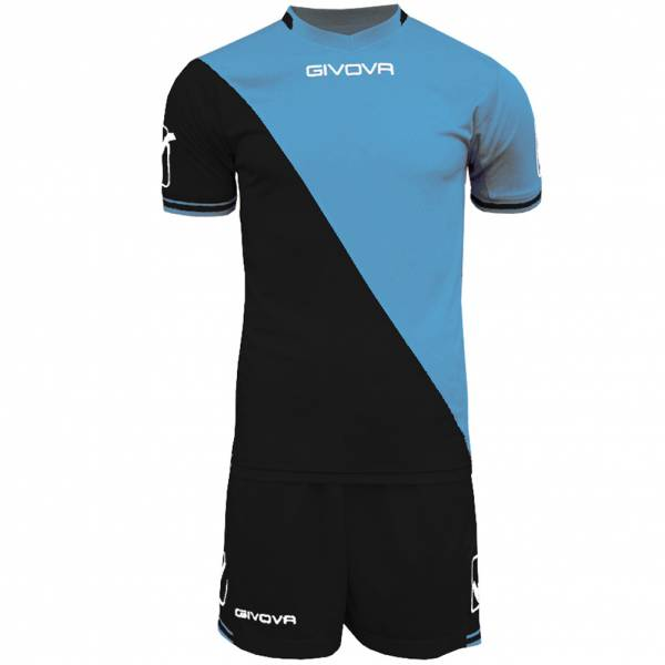 Givova Craft Football Kit Jersey with Shorts Kit light blue / black