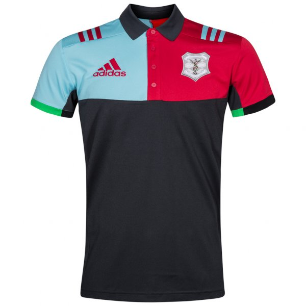 Harlequins Rugby Union adidas Herren Polo-Shirt AZ5520