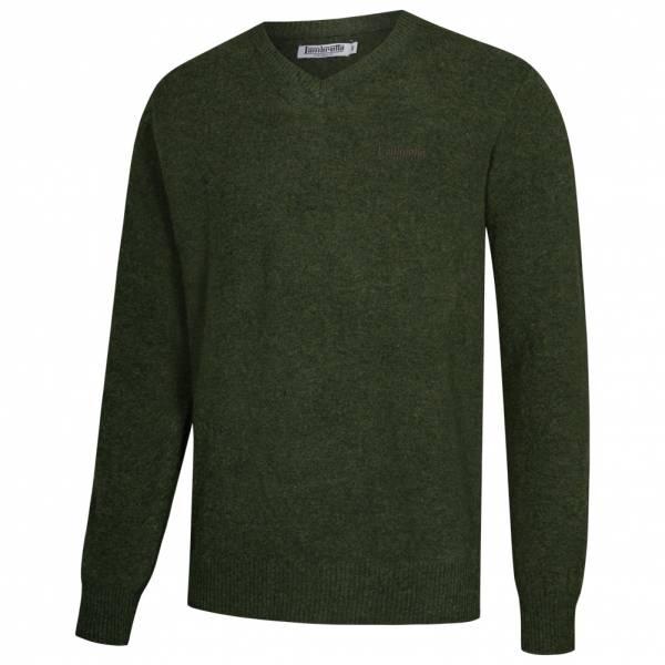 Lambretta Lambswool Sweater Herren Lammwolle Sweatshirt RWIK0045-DK FOREST