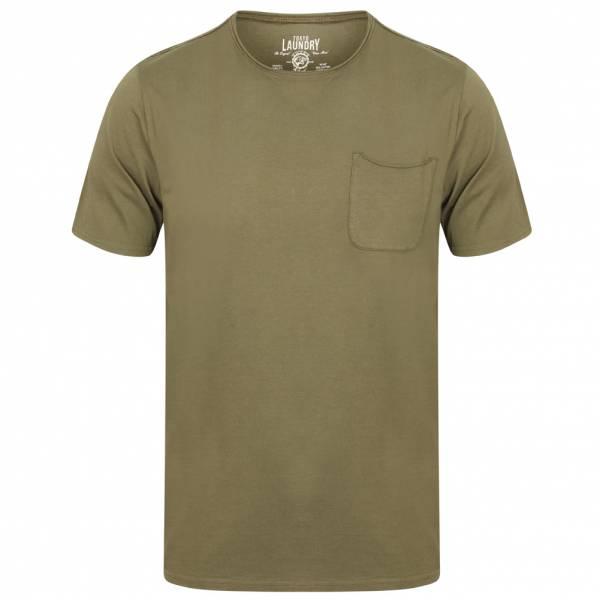 Tokyo Laundry Zac Crew Neck Pocket Herren T-Shirt 1C10666 Burnt Olive