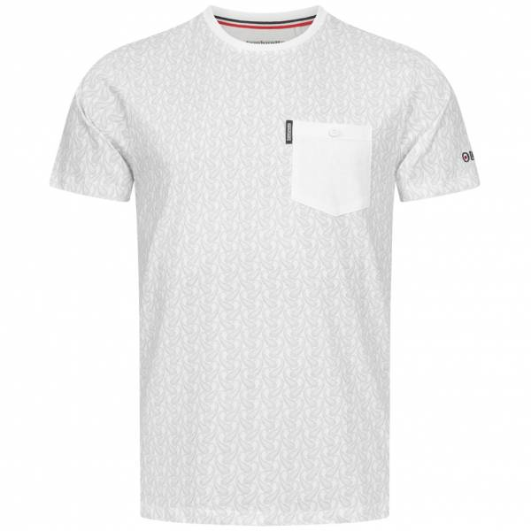 Lambretta Paisley Allover Print Herren T-Shirt SS6807-WHITE