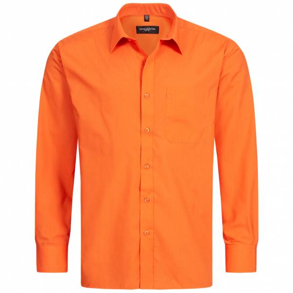 RUSSELL Longsleeve Poly Cotton Poplin Herren Shirt 0R934M0-Orange
