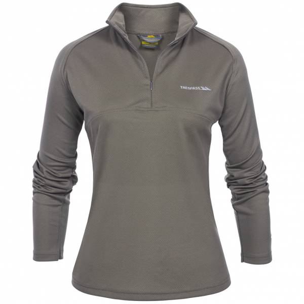 TRESPASS Riccarton Damen Half Zip Top Oberteil braun