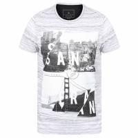 DNM Dissident San Fran Split Herren T-Shirt 1C10654 Optic White