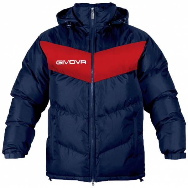 Givova winter jacket Giubbotto Podio navy / red