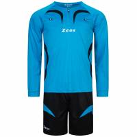 Zeus Herren Schiedsrichter Set Trikot mit Shorts Blau