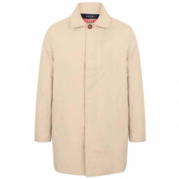 Tokyo Laundry Hallows Collared Trench Coat Herren Jacke 1J10626 Stone