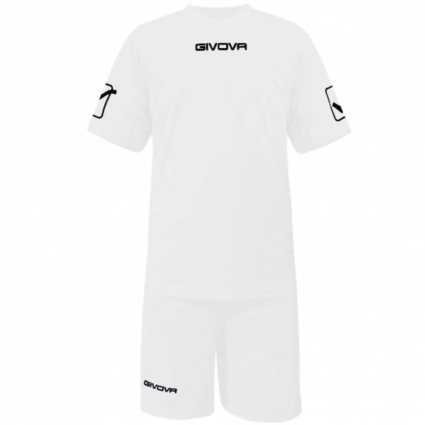 Givova Fußball Set Trikot mit Short Kit Givova weiß