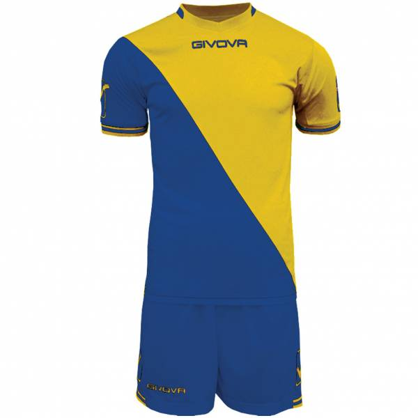 Givova Soccer Set Jersey with Short Kit Craft blue / yellow