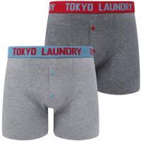Tokyo Laundry Mursell 2er-Pack Herren Boxershorts 1P13376 Niagara Blue