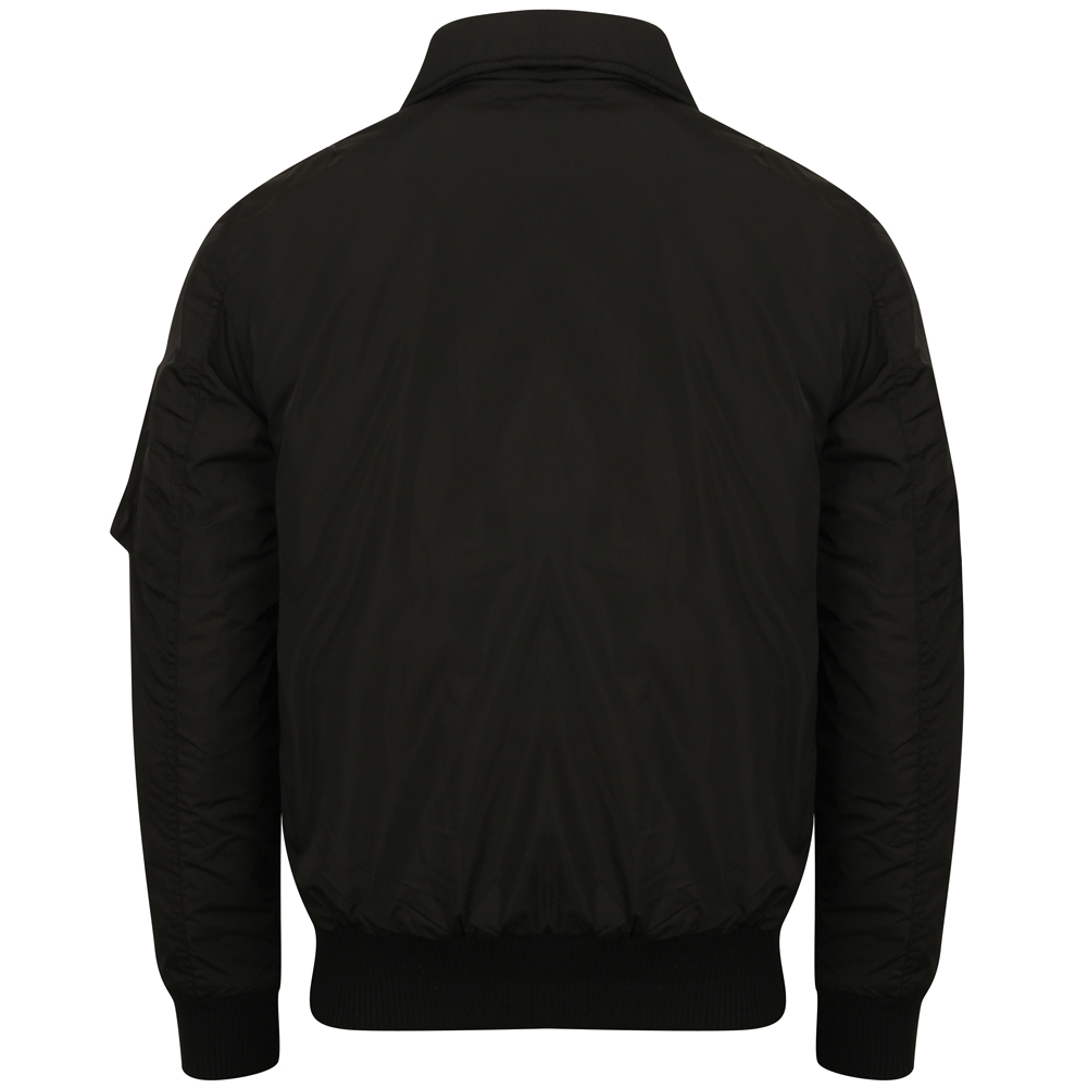Tokyo Laundry Strathaven Collar Bomber Jacket Herren Bomberjacke 1J9733 Black