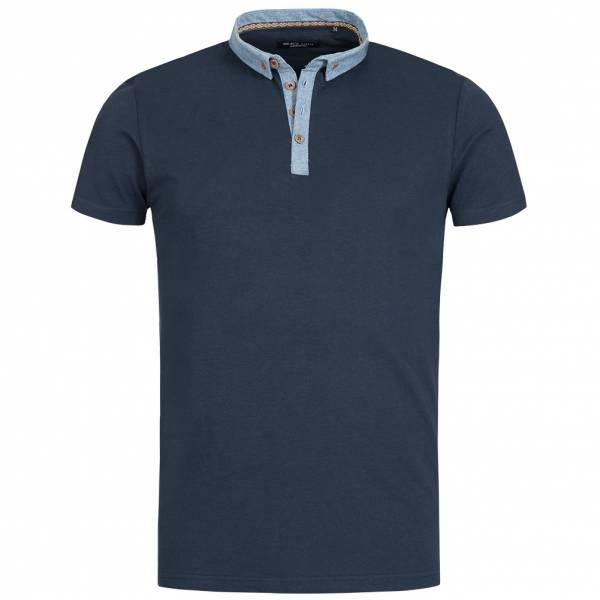 BRAVE SOUL Chimera Herren Denim Chambray Polo-Shirt MTS-69CHIMERAH Navy