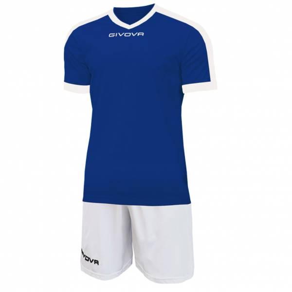 Givova Kit Revolution Camiseta de fútbol con Pantalones cortos azul blanco