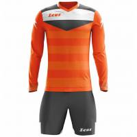 Zeus Argo Torwart Set Langarm Trikot mit Shorts Neon Orange Grau