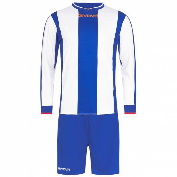 Givova Kit Line Fußball Set Langarm Trikot + Short KITC27-0203