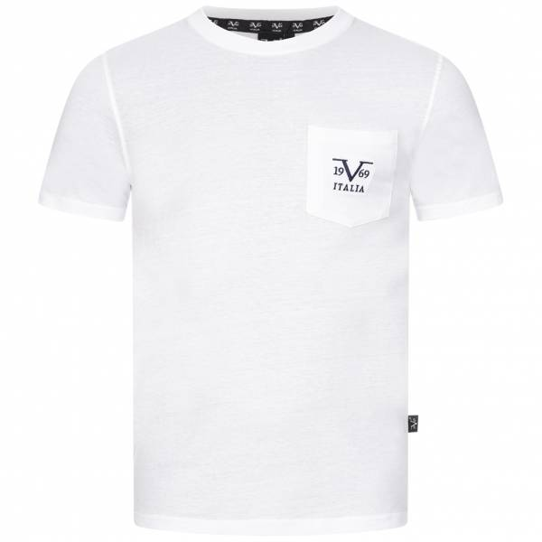 19V69 Versace 1969 Big Logo Herren T-Shirt VI20SS0009A weiß