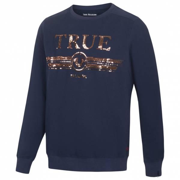 True Religion Trucci Sequin Crew Hommes Sweat-shirt M19HF28N7G-3921