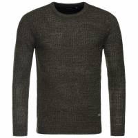 BRAVE SOUL Dennett Colour Twist Crew Herren Sweatshirt  MK-230DENNETT Khaki