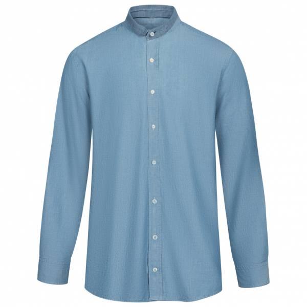Hackett London Denim Contrast Collar Herren Hemd HM306698-591