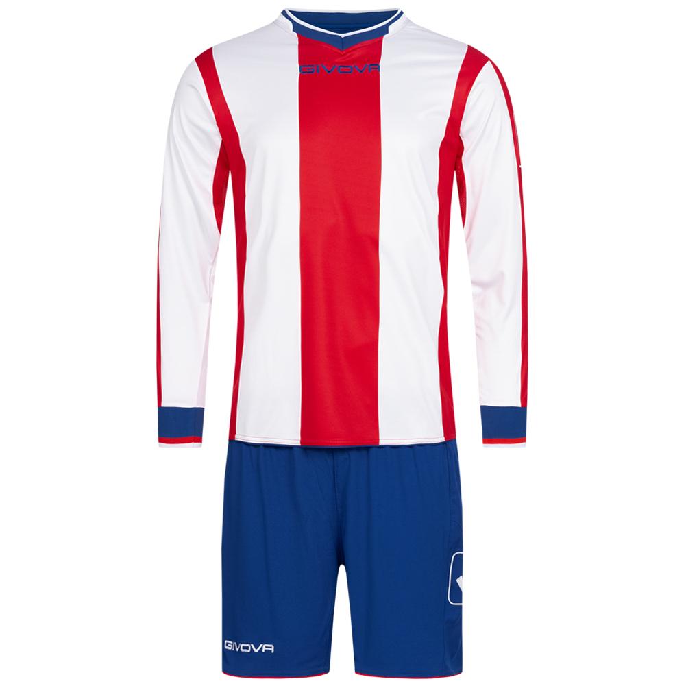 Givova Kit Line Fußball Set Langarm Trikot + Short KITC27 1203