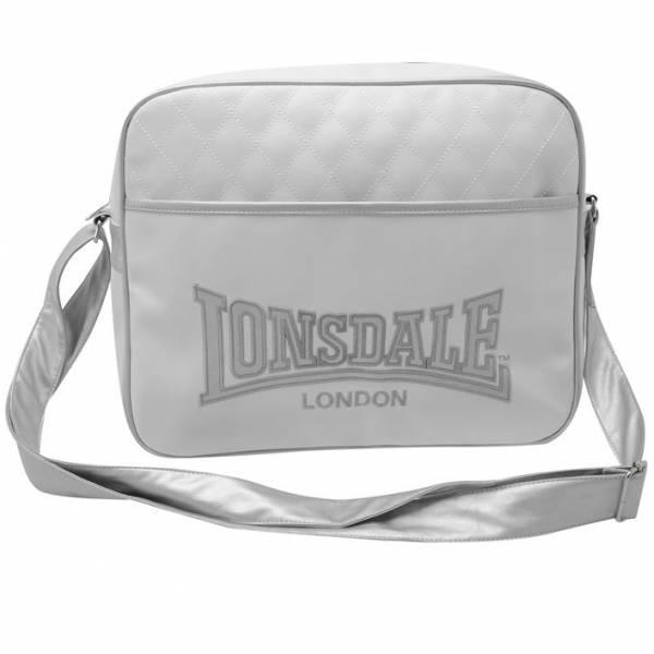 Lonsdale Messenger Umhängetasche weiß