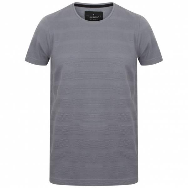 DNM Dissident Leake Herren gestreiftes T-Shirt 1C10436 Dusty Blue