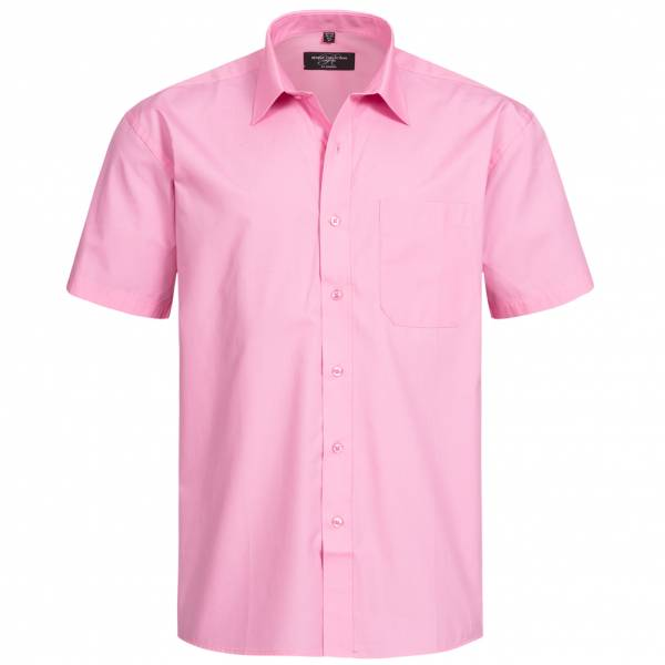RUSSELL Short Sleeve Pure Cotton Poplin Herren Hemd 0R937M0-Bright-Pink