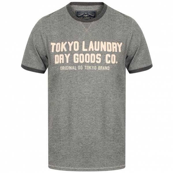 Tokyo Laundry Williamburg Herren Logo T-Shirt 1C11474 Grey Marl