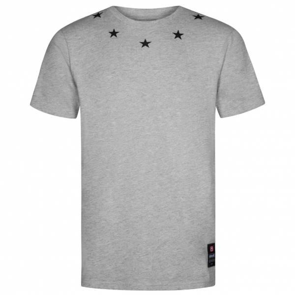 Ecko Unltd. Star Neck Tee Herren T-Shirt ESK4367 Ath Grey Marl