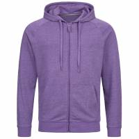 RUSSELL Full Zip Men Hooded Sweat Jacket 0R284M0-Purple-Marl
