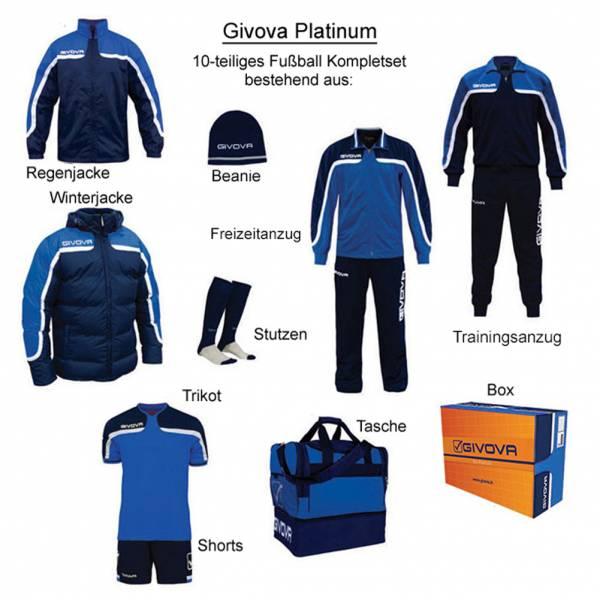 Givova Box Platinum Fußball Set 10-tlg. blau/navy