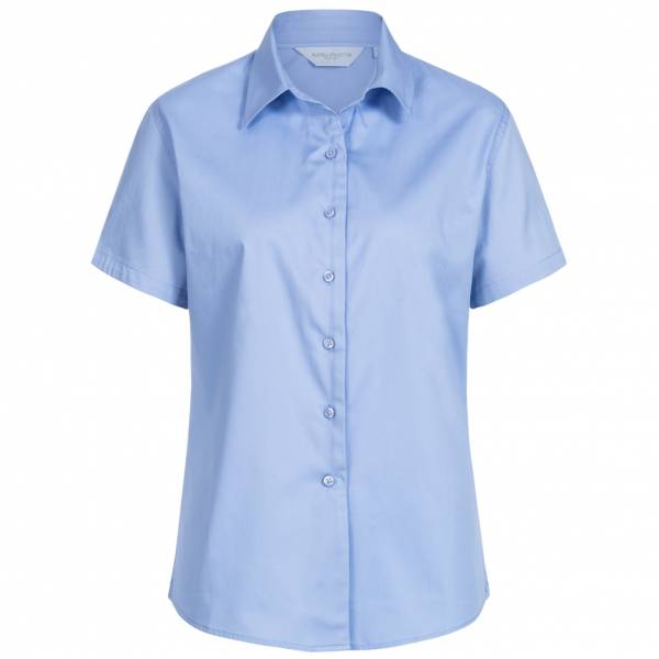 RUSSELL Short Sleeve Classic Twill Donna Camicia 0R917F0-Blu