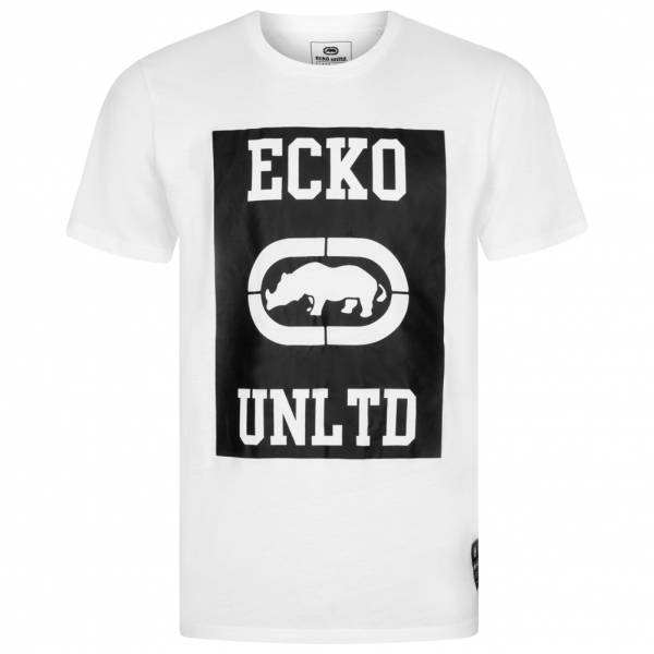 ecko unltd square logo tee herren t shirt esk4371 white. Black Bedroom Furniture Sets. Home Design Ideas