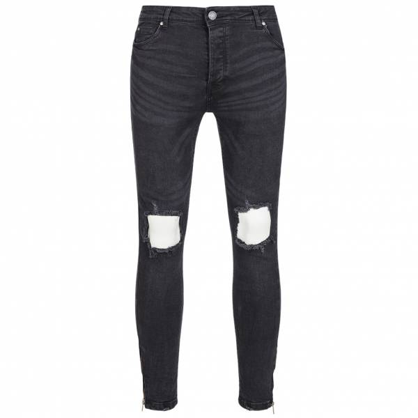 BRAVE SOUL Parker Skinny Fit Hommes Denim Cut Out Jean MJN-PARKER