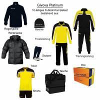 Givova Box Platinum Fußball Set 10-tlg. schwarz/gelb